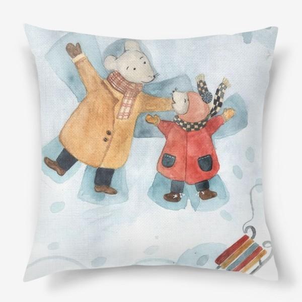 Подушка «Папа мышь с сыном»