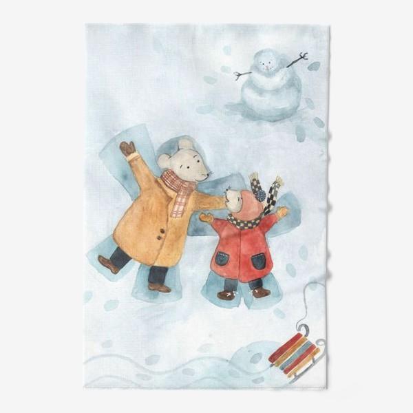 Полотенце «Папа мышь с сыном»