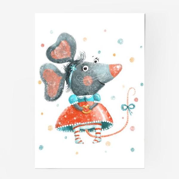 Постер «Подарок с крысой, символ 2020»