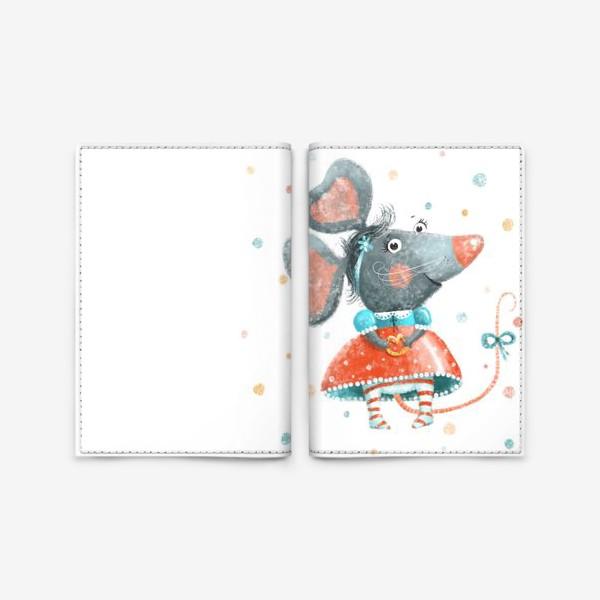 Обложка для паспорта «Подарок с крысой, символ 2020»