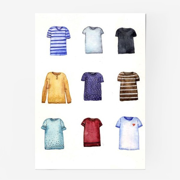 Постер «Футболки»