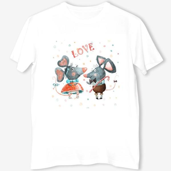 Футболка «Подарки с символом 2020, белая металлическая крыса»