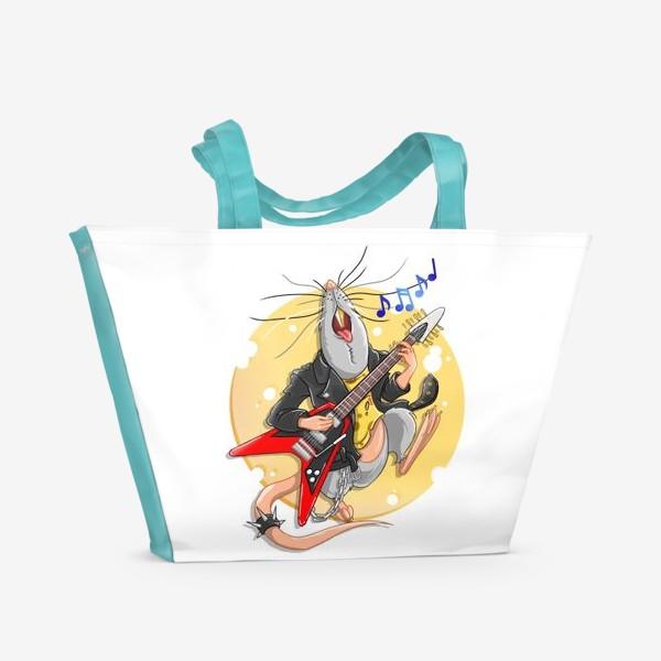 Пляжная сумка «металлическая крыса »