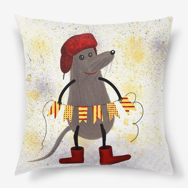 Подушка «Мышонок готовится к празднику»