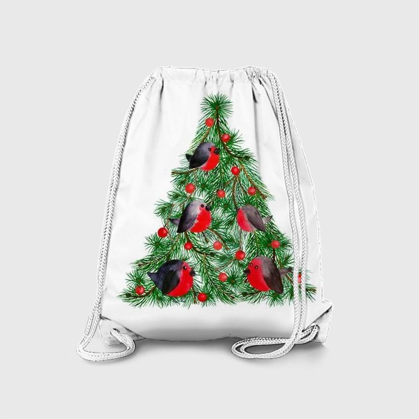 Рюкзак «Новогодняя ёлка со снегирями»