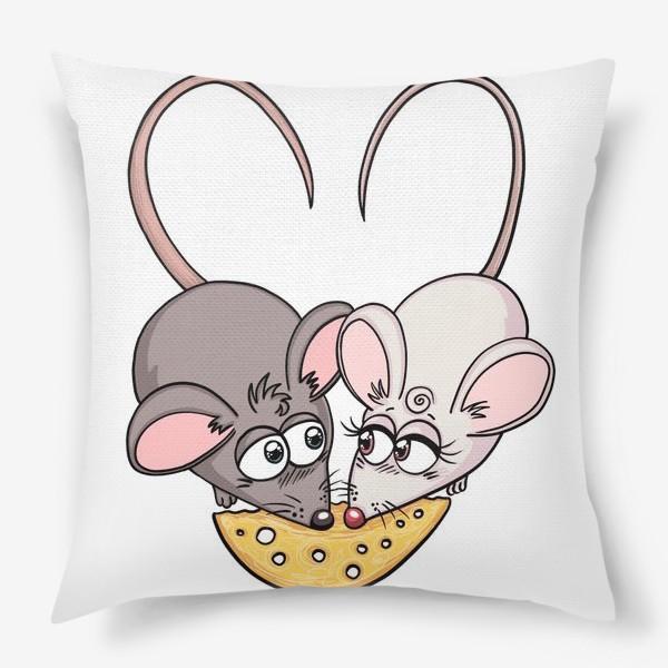 Подушка «Крыски с сыром»