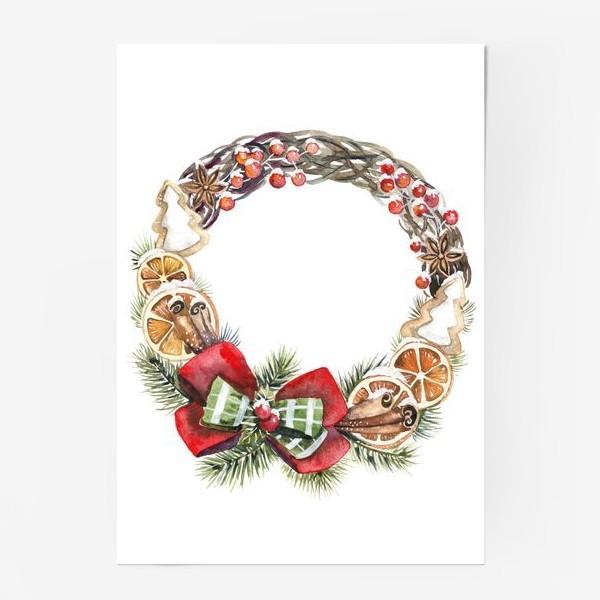 Постер «рождественский венок»