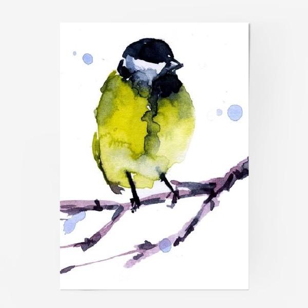 Постер «Зима. Синичка.»