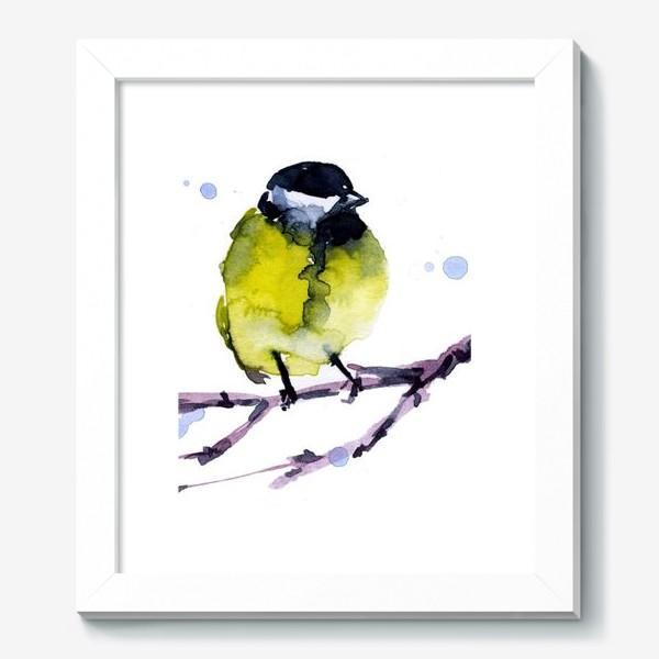 Картина «Зима. Синичка.»