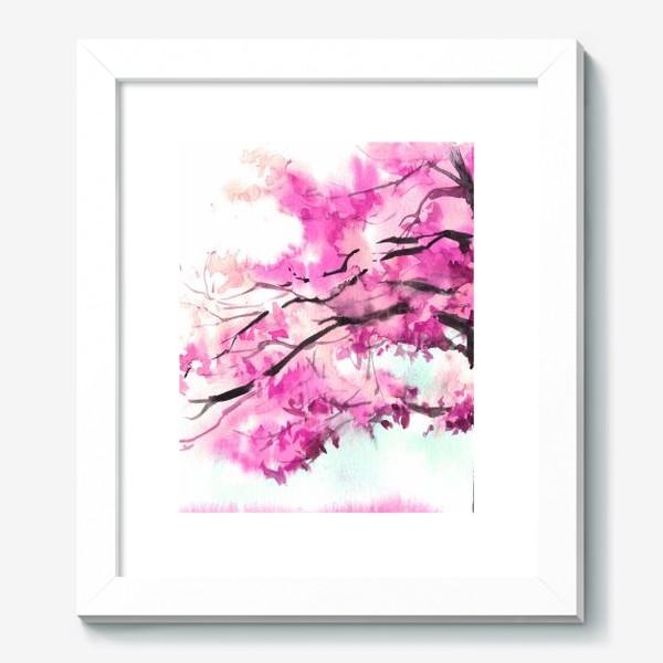 Картина «Акварель Розовое дерево»