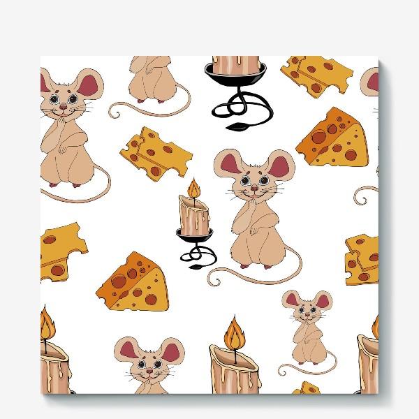 Холст «паттерн мышки »