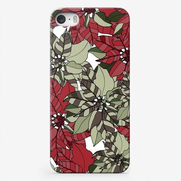Чехол iPhone «пуансеттия»