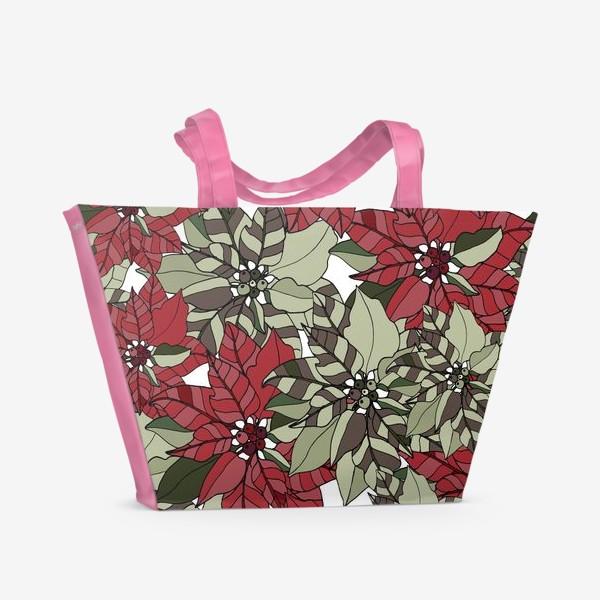 Пляжная сумка «пуансеттия»