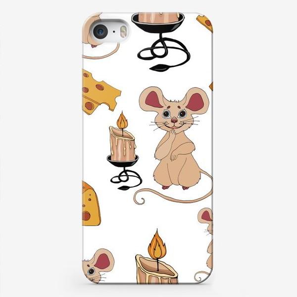 Чехол iPhone «паттерн мышки »
