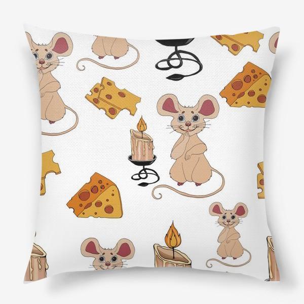 Подушка «паттерн мышки »