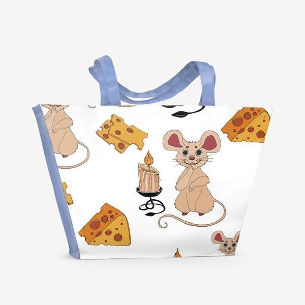 Пляжная сумка «паттерн мышки »