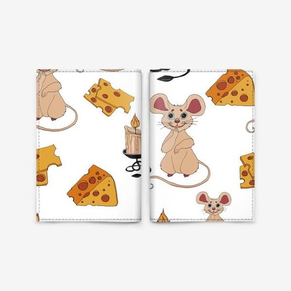 Обложка для паспорта «паттерн мышки »