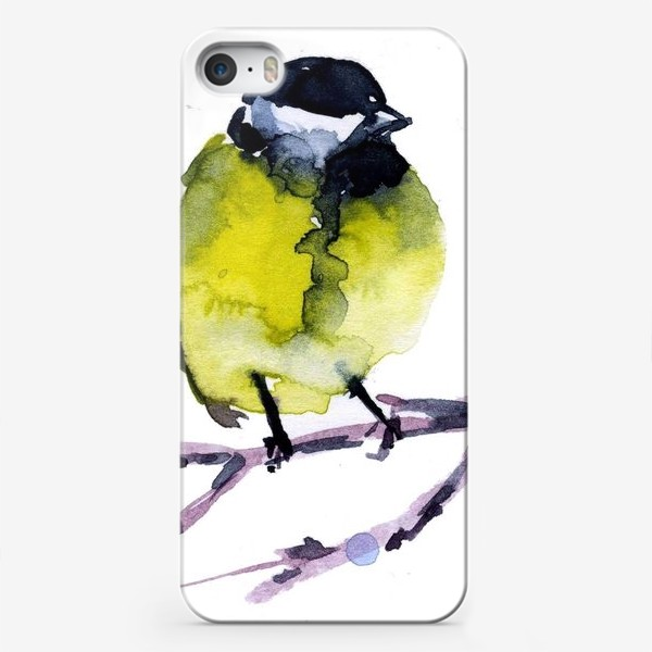 Чехол iPhone «Зима. Синичка.»