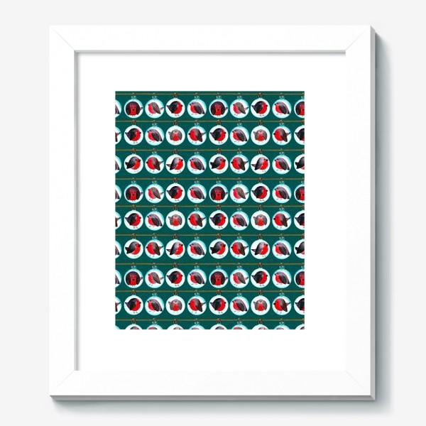 Картина «Паттерн ёлочные шары со снегирями »