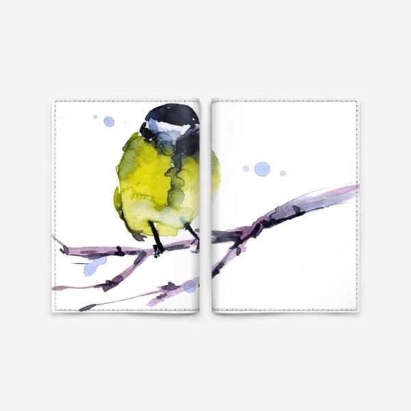 Обложка для паспорта «Зима. Синичка.»