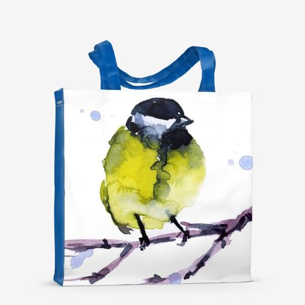 Сумка-шоппер «Зима. Синичка.»