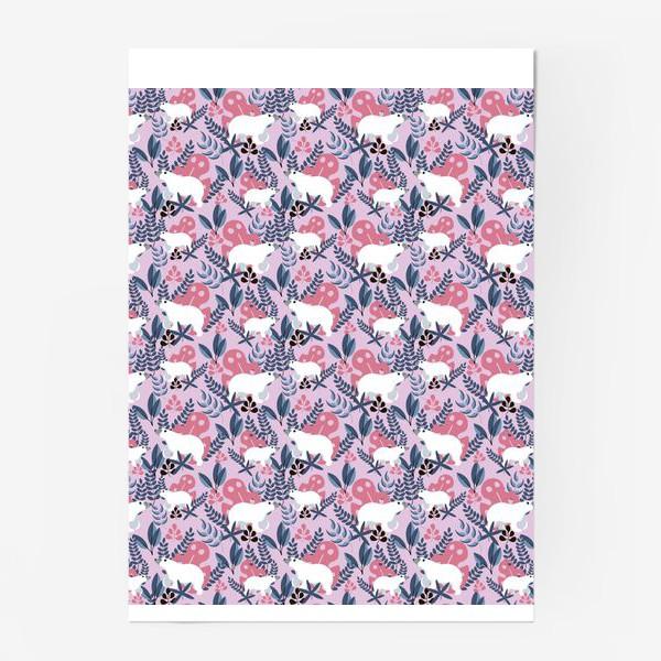 Постер «Ботанические Мишки»