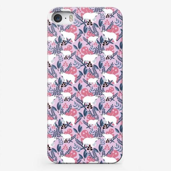 Чехол iPhone «Ботанические Мишки»