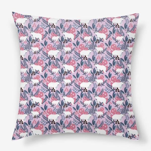 Подушка «Ботанические Мишки»