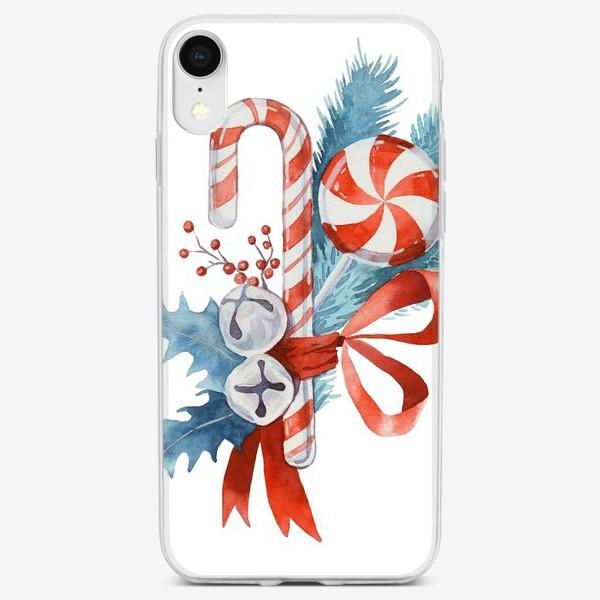 Чехол iPhone «Рождественские леденцы. Новый год»