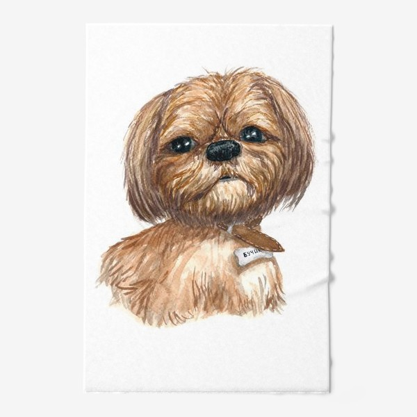Полотенце «Собака ши-тцу Бучик»