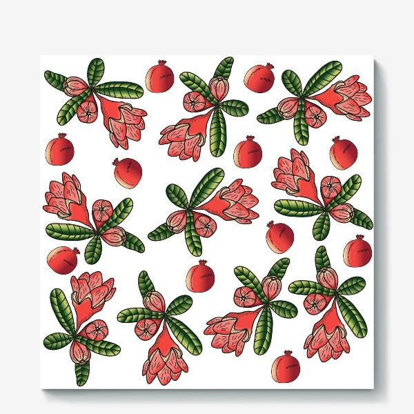 Холст «Гранаты и цветы»
