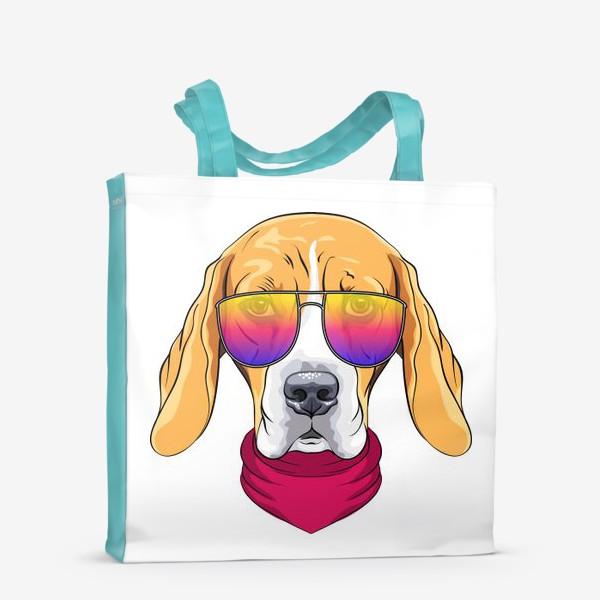 Сумка-шоппер «бигль в очках»