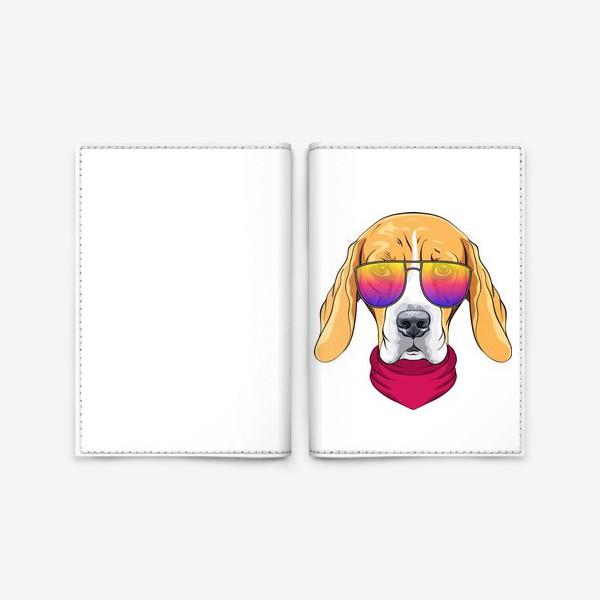 Обложка для паспорта «бигль в очках»