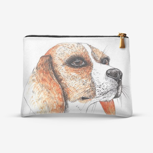 Косметичка «Собака Бигль Рисунок»