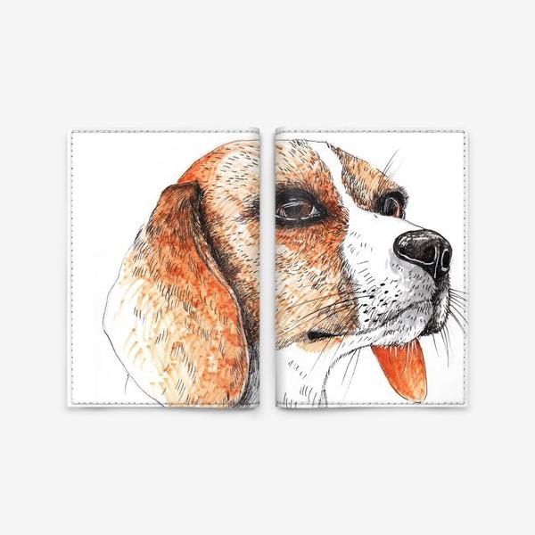 Обложка для паспорта «Собака Бигль Рисунок»