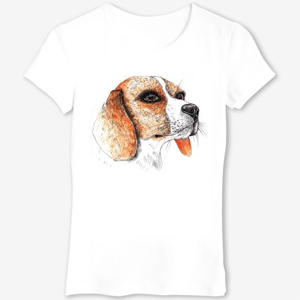 Футболка «Собака Бигль Рисунок»