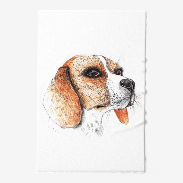 Полотенце «Собака Бигль Рисунок»