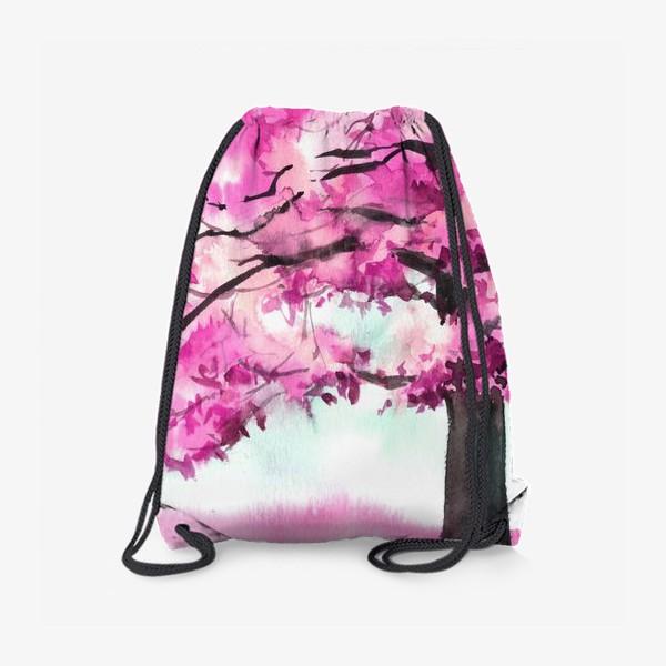 Рюкзак «Акварель Розовое дерево»