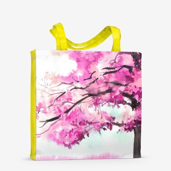 Сумка-шоппер «Акварель Розовое дерево»