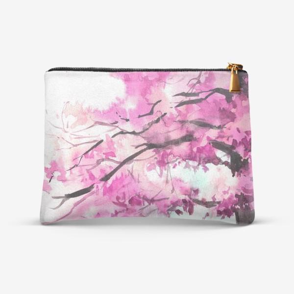 Косметичка «Акварель Розовое дерево»