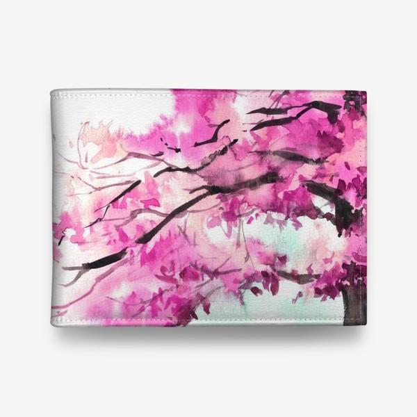 Кошелек «Акварель Розовое дерево»