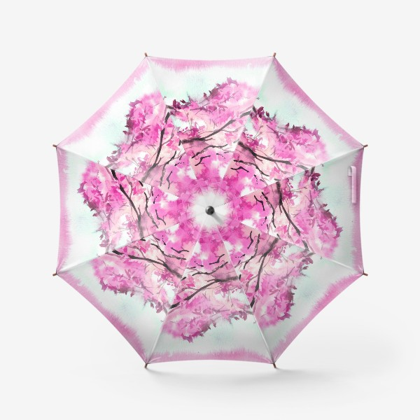 Зонт «Акварель Розовое дерево»