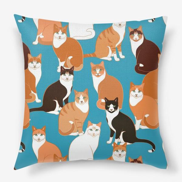 Подушка «Рыжие Кошки»