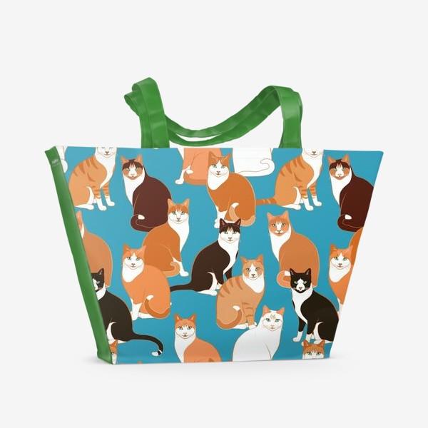 Пляжная сумка «Рыжие Кошки»