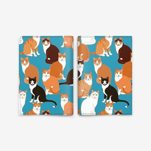 Обложка для паспорта «Рыжие Кошки»