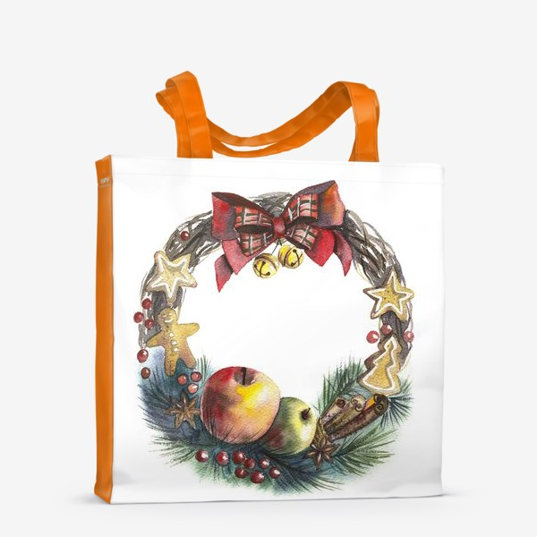 Сумка-шоппер «Новогодний венок»