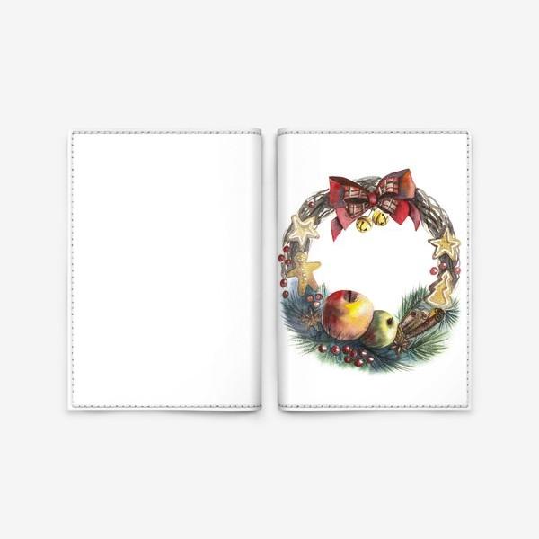Обложка для паспорта «Новогодний венок»