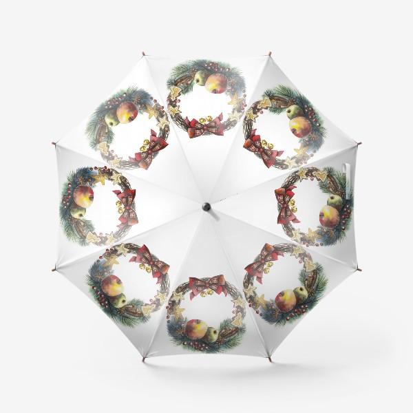Зонт «Новогодний венок»