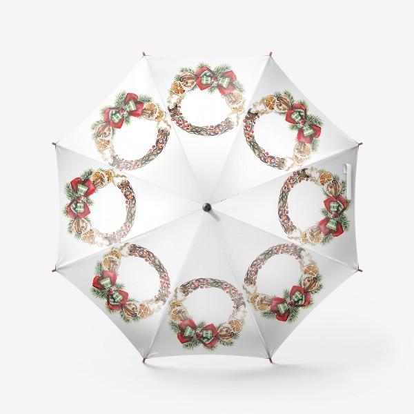 Зонт «рождественский венок»