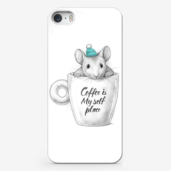 Чехол iPhone «Coffee is my self place»